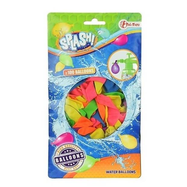 100x Gekleurde waterballonnen - Buitenspeelgoed - Waterbommen - Watergevecht