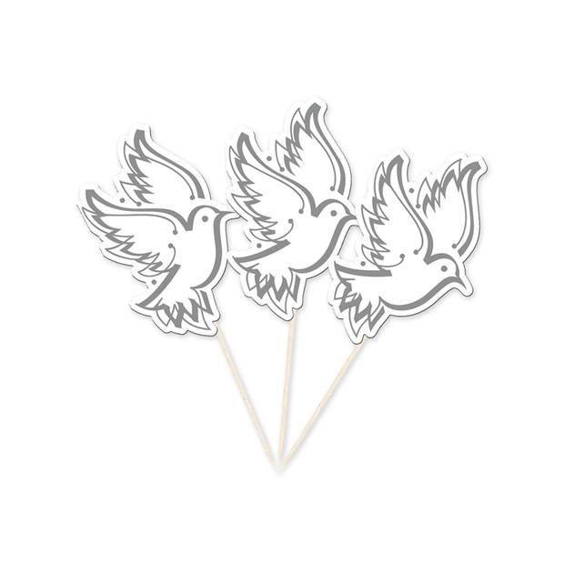 Grote prikkers witte duiven 10 stuks