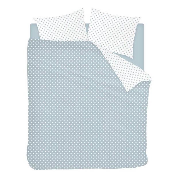 Snoozing Pierrot dekbedovertrek - 2-persoons (200x200/220 cm + 2 slopen) - Katoen - Blue