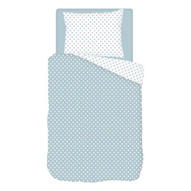 Snoozing Pierrot dekbedovertrek - 1-persoons (140x200/220 cm + 1 sloop) - Katoen - Blue