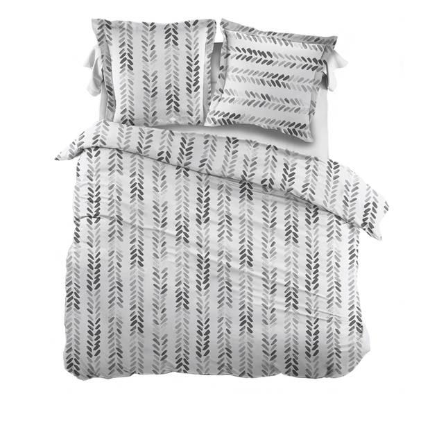 Snoozing Pierre dekbedovertrek - Lits-jumeaux (270x200/220 cm + 2 slopen) - Katoen - Gray