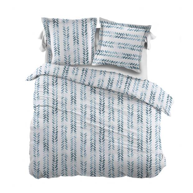 Snoozing Pierre dekbedovertrek - 2-persoons (200x200/220 cm + 2 slopen) - Katoen - Blue