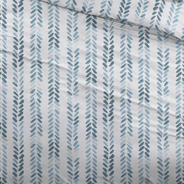Snoozing Pierre dekbedovertrek - 1-persoons (140x200/220 cm + 1 sloop) - Katoen - Blue