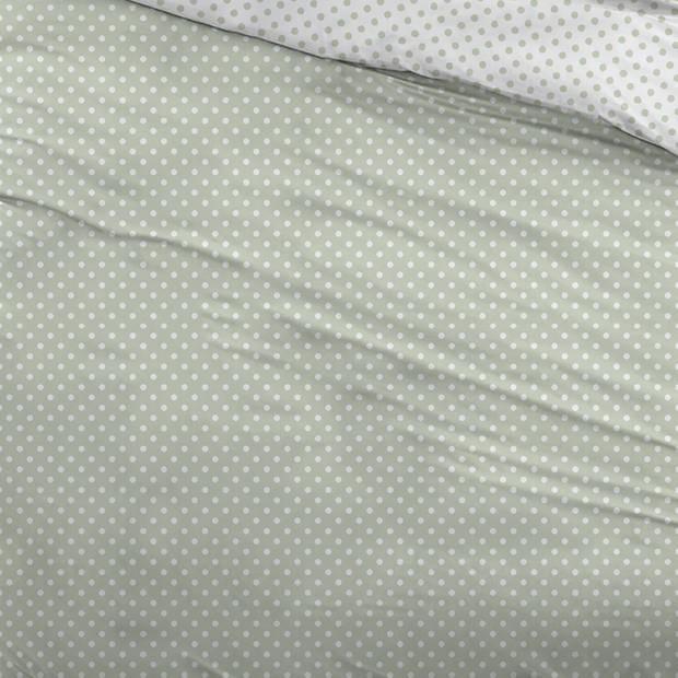 Snoozing Pierrot dekbedovertrek - 1-persoons (140x200/220 cm + 1 sloop) - Katoen - Green