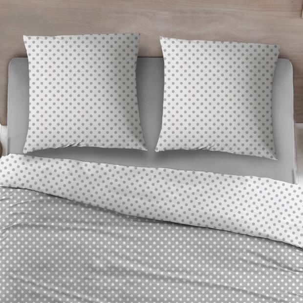 Snoozing Pierrot dekbedovertrek - 2-persoons (200x200/220 cm + 2 slopen) - Katoen - Gray