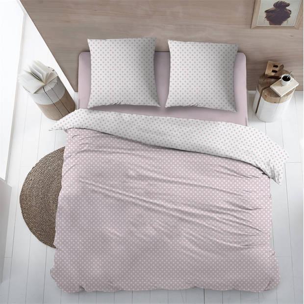 Snoozing Pierrot dekbedovertrek - 1-persoons (140x200/220 cm + 1 sloop) - Katoen - Pink