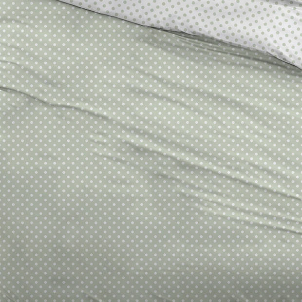 Snoozing Pierrot dekbedovertrek - Lits-jumeaux (240x200/220 cm + 2 slopen) - Katoen - Green