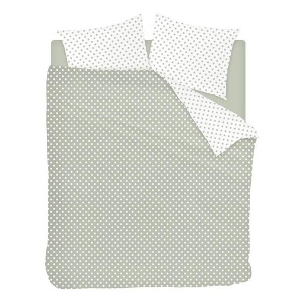Snoozing Pierrot dekbedovertrek - 2-persoons (200x200/220 cm + 2 slopen) - Katoen - Green