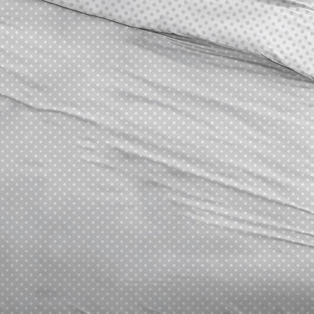 Snoozing Pierrot dekbedovertrek - 1-persoons (140x200/220 cm + 1 sloop) - Katoen - Gray