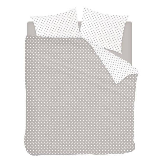 Snoozing Pierrot dekbedovertrek - 2-persoons (200x200/220 cm + 2 slopen) - Katoen - Taupe