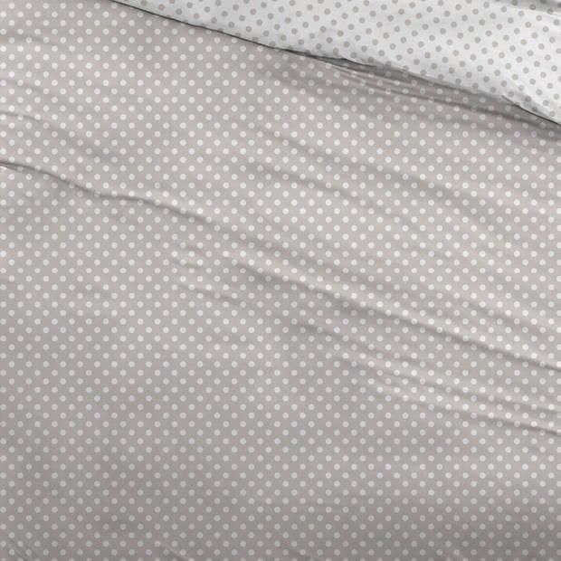 Snoozing Pierrot dekbedovertrek - 1-persoons (140x200/220 cm + 1 sloop) - Katoen - Taupe