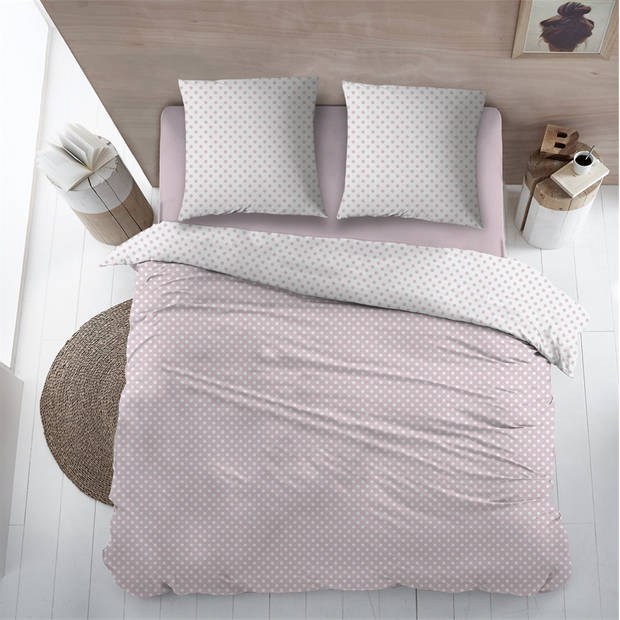 Snoozing Pierrot dekbedovertrek - Lits-jumeaux (270x200/220 cm + 2 slopen) - Katoen - Pink