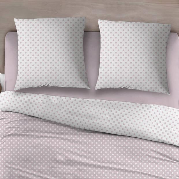 Snoozing Pierrot dekbedovertrek - Lits-jumeaux (240x200/220 cm + 2 slopen) - Katoen - Pink