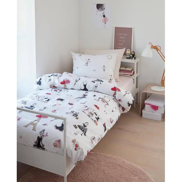 Beddinghouse Kids Dekbedovertrek Paris Girl - Roze - 140x200/220 - 1-Persoons 140x200/220 cm