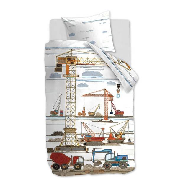 Beddinghouse Kids Dekbedovertrek Building Site - Multi - 140x200/220 - 1-Persoons 140x200/220 cm