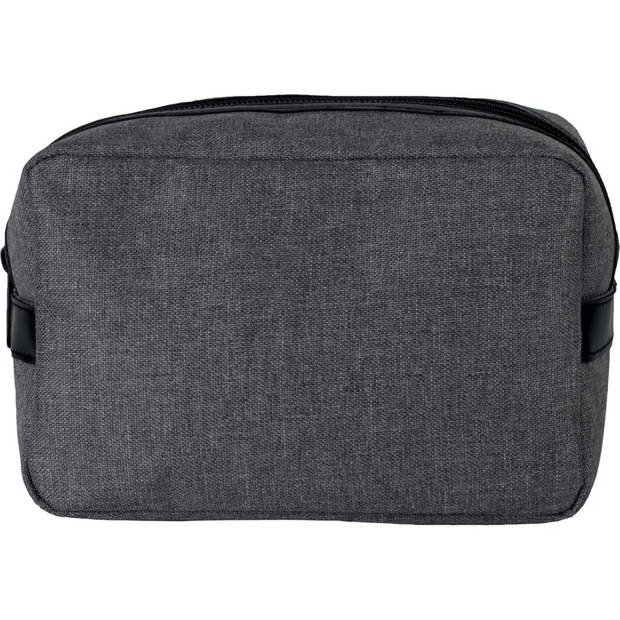 Toilettas/make-up tas zwart 20 cm voor heren/dames - Reis toilettassen/make-up etui - Handbagage