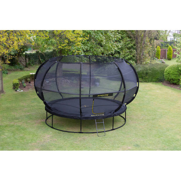 Jumpking trampoline met net en ladder ZorbPOD 366 cm zwart
