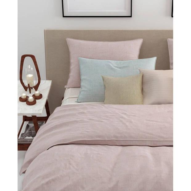 Zo! Home dekbedovertrek Lino - Shell Nude - Lits-jumeaux XL 260x200/220 cm