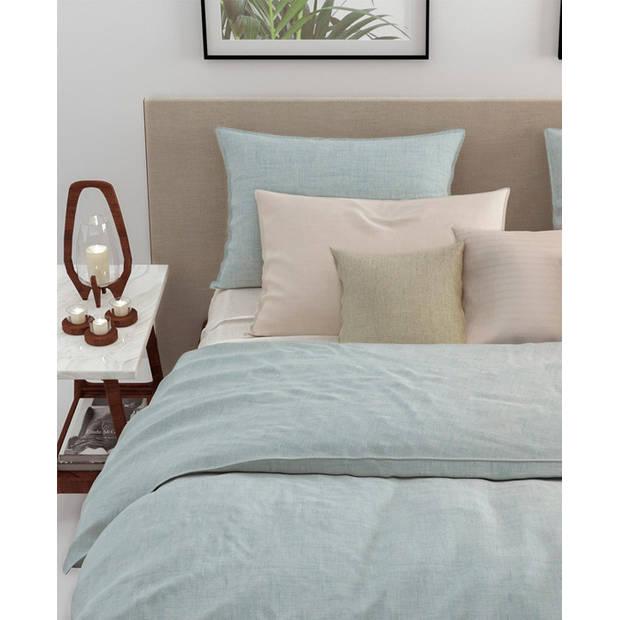 Zo! Home dekbedovertrek Lino - Mintgroen - Lits-jumeaux XL 260x200/220 cm