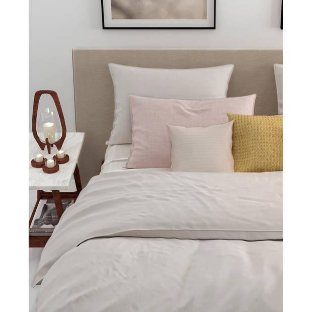 Zo! Home dekbedovertrek Lino - Off-Wit - 1-Persoons 140x200/220 cm