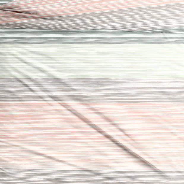 Snoozing Sandy dekbedovertrek - 1-persoons (140x200/220 cm + 1 sloop) - Katoen satijn - Multi