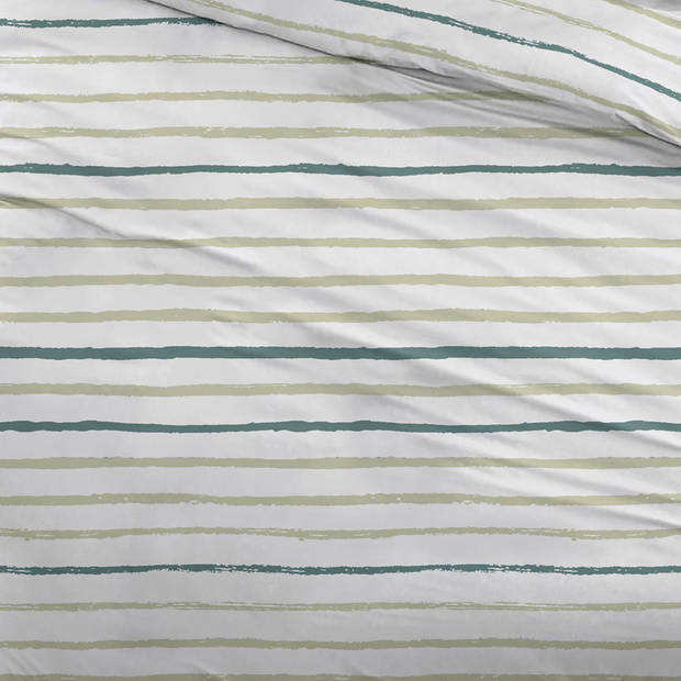 Snoozing Paul dekbedovertrek - Lits-jumeaux (270x200/220 cm + 2 slopen) - Katoen - Green