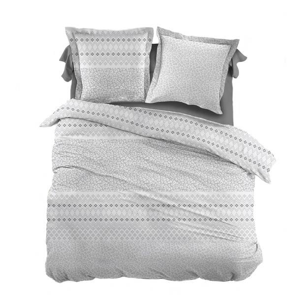 Snoozing Pedro dekbedovertrek - Lits-jumeaux (270x200/220 cm + 2 slopen) - Katoen - Gray