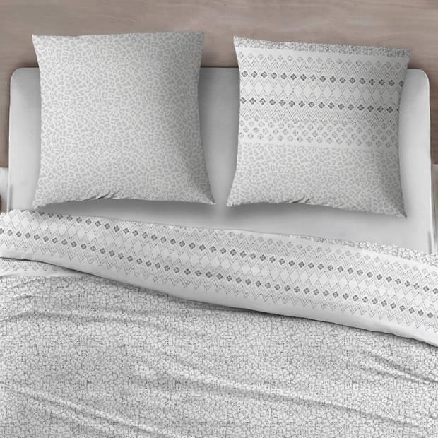Snoozing Pedro dekbedovertrek - 2-persoons (200x200/220 cm + 2 slopen) - Katoen - Gray