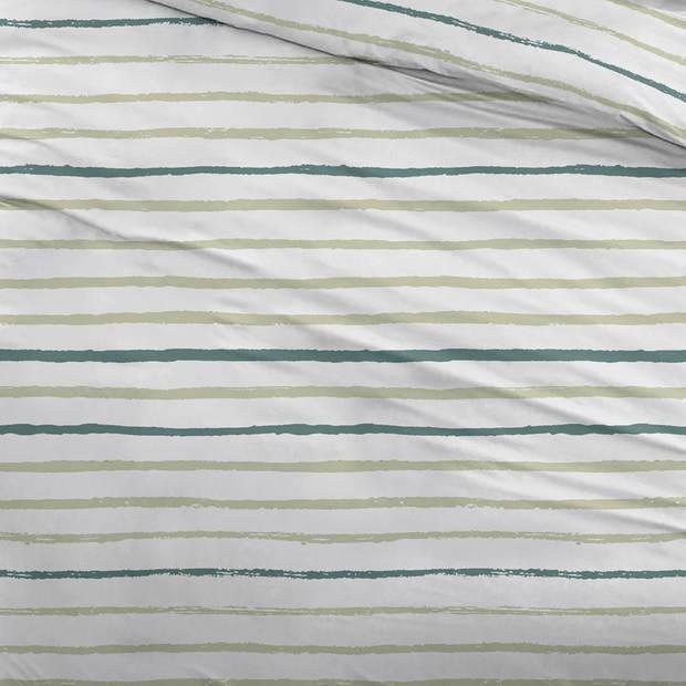 Snoozing Paul dekbedovertrek - 2-persoons (200x200/220 cm + 2 slopen) - Katoen - Green