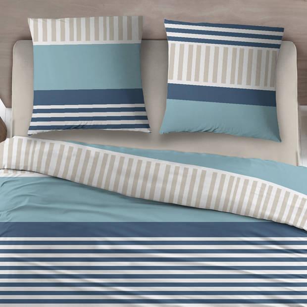 Snoozing Peter dekbedovertrek - Lits-jumeaux (270x200/220 cm + 2 slopen) - Katoen - Blue