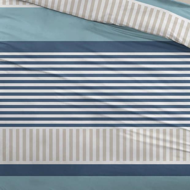 Snoozing Peter dekbedovertrek - 1-persoons (140x200/220 cm + 1 sloop) - Katoen - Blue