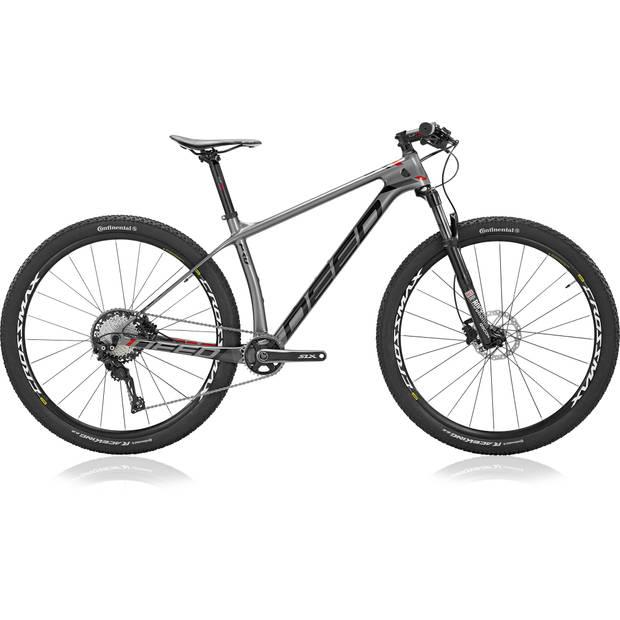 Deed Hardtail Mountainbike Vector Pro 293 29 Inch 39 cm Heren 11V Hydraulische schijfrem Grijs/Zwart