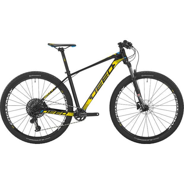 Deed Vector 292 Hardtail Mountainbike 29 Inch Heren 12V Hydraulische schijfrem Zwart/Geel