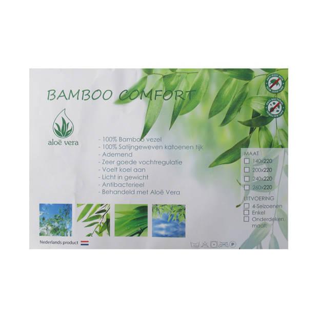 iSleep 4-seizoenen dekbed Bamboo Comfort DeLuxe - 1-Persoons 140x220 cm