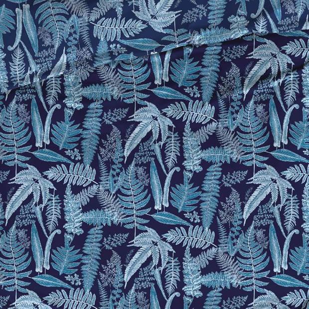 Satin D'or Satin d'Or Tropea dekbedovertrek - 2-persoons (200x200/220 cm + 2 slopen) - Katoen satijn - Blauw
