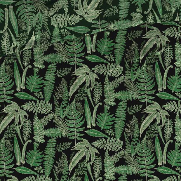 Satin D'or Satin d'Or Tropea dekbedovertrek - 2-persoons (200x200/220 cm + 2 slopen) - Katoen satijn - Groen
