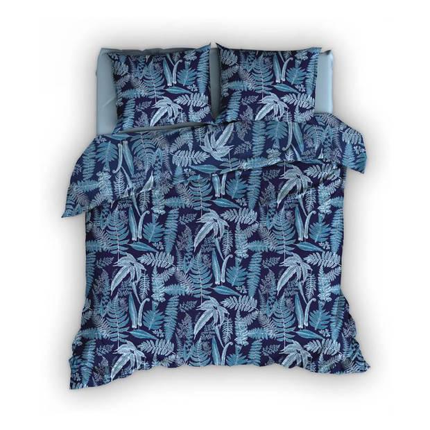 Satin D'or Satin d'Or Tropea dekbedovertrek - 1-persoons (140x200/220 cm + 1 sloop) - Katoen satijn - Blauw