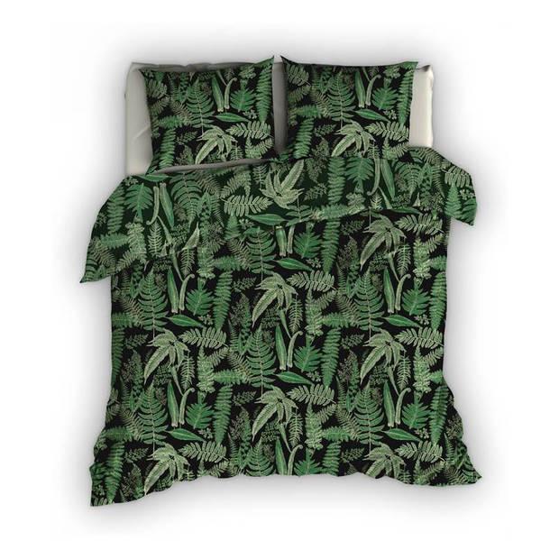 Satin D'or Satin d'Or Tropea dekbedovertrek - 1-persoons (140x200/220 cm + 1 sloop) - Katoen satijn - Groen