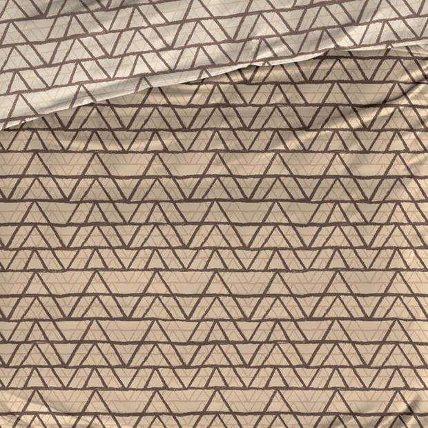 Satin D'or Satin d'Or Cervo dekbedovertrek - 2-persoons (200x200/220 cm + 2 slopen) - Katoen satijn - Sand