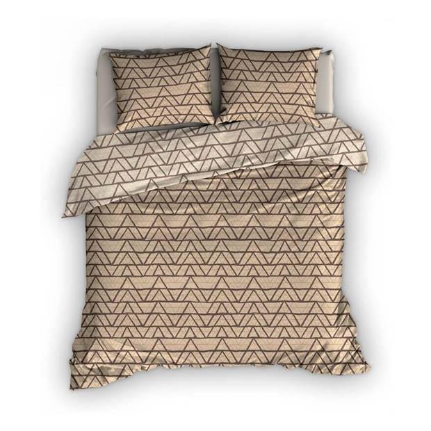Satin D'or Satin d'Or Cervo dekbedovertrek - Lits-jumeaux (270x200/220 cm + 2 slopen) - Katoen satijn - Sand