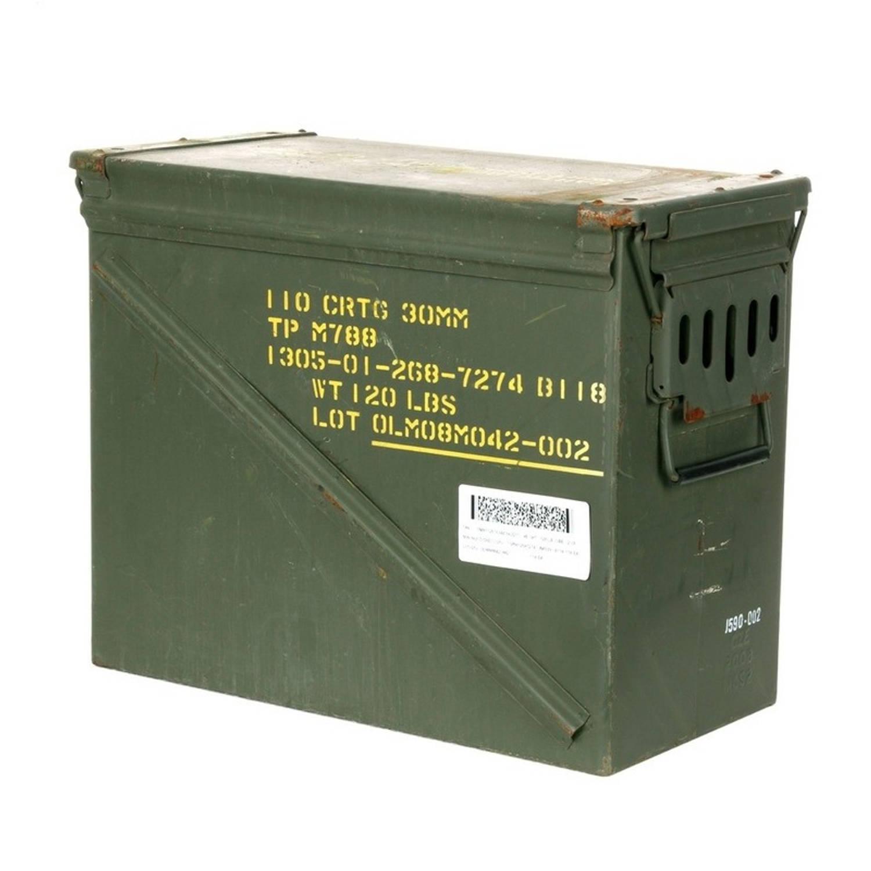 Leger opbergkist groen 48 x 23 x 37 cm munitiekist