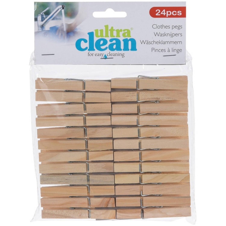 Korting 24x Houten Wasknijpers 7 Cm Huishoudelijke Producten Knijpers Wasspelden