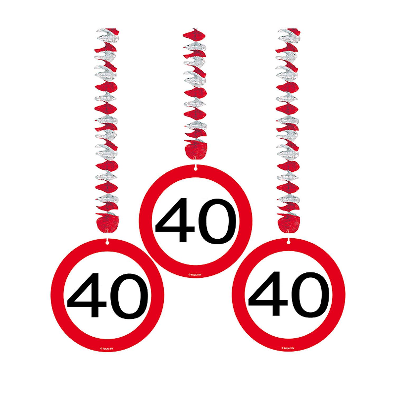 Feestbazaar Hangdecoratie verkeersbord '40' online kopen