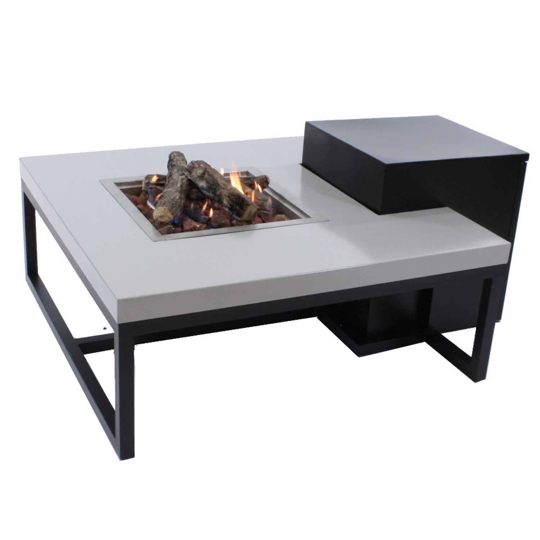 Enjoyfires Vuurtafel Ambiance Vierkant Zwart-grijs 90x90x35 Cm
