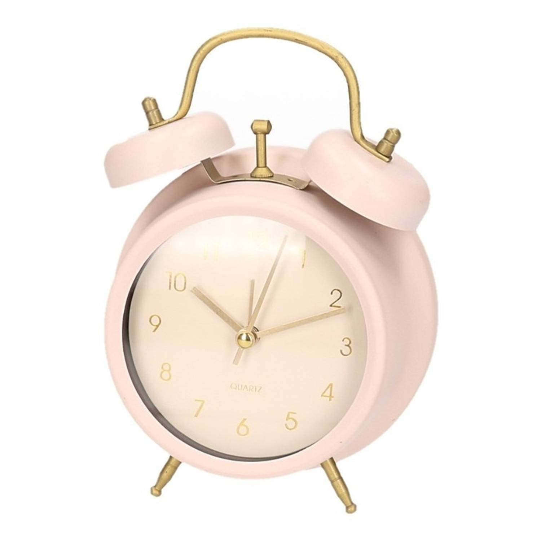 Roze Slaapkamer Accessoires.Klassieke Wekker Metaal Roze 17 Cm Kinderkamer Slaapkamer