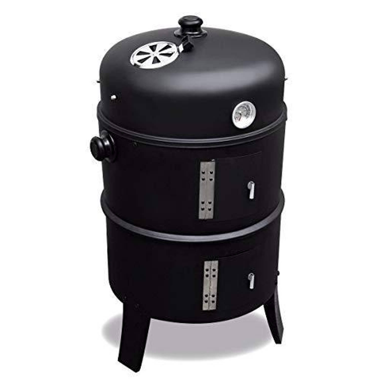 2 L Home Garden Black Smoker Rookoven 2 in 1 Zwart