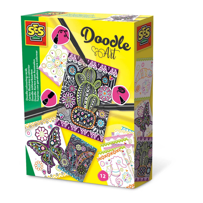 Doodle inkleurkaarten