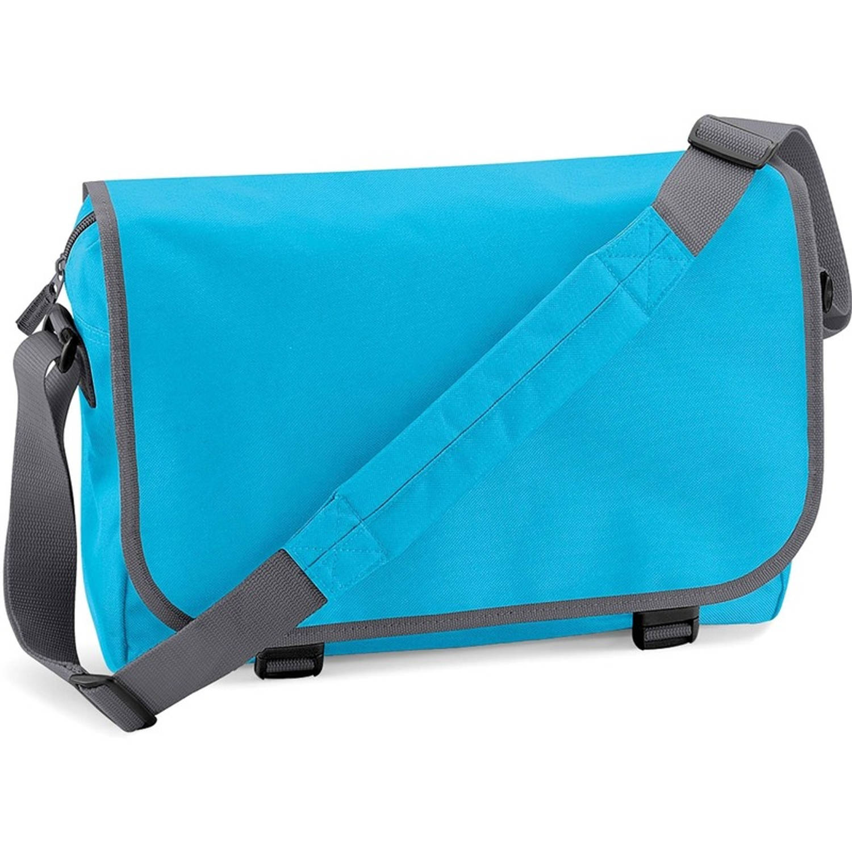 Schoudertas-aktetas turquoise-grijs 41 cm voor dames-heren Schooltassen-laptop tassen met schouderba