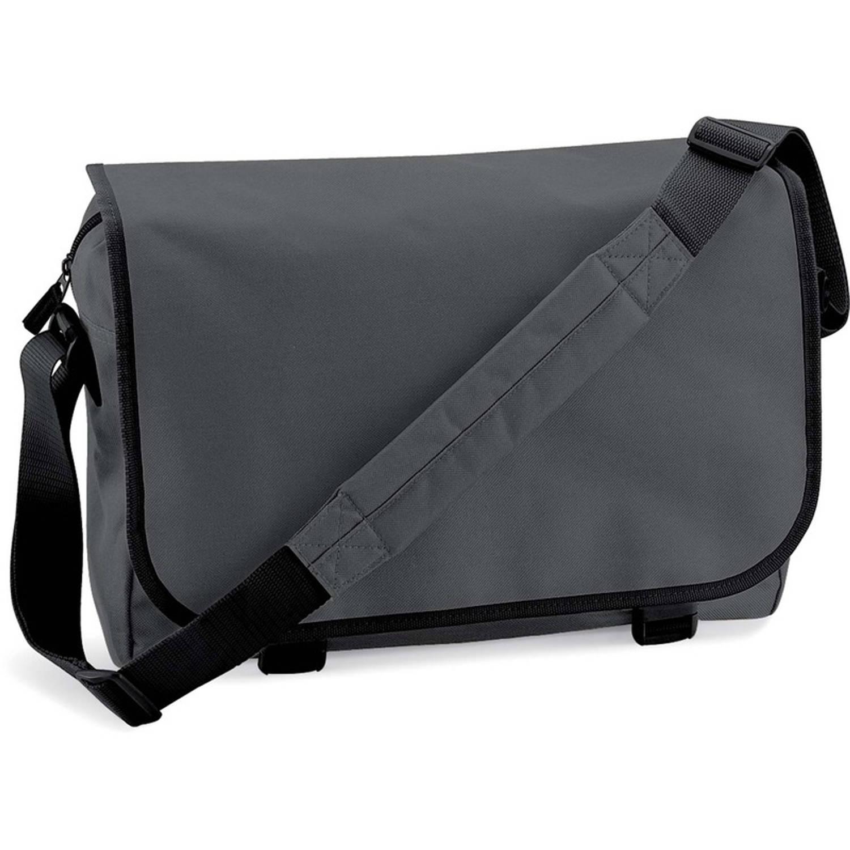 Schoudertas-aktetas grijs 41 cm voor dames-heren Schooltassen-laptop tassen met schouderband