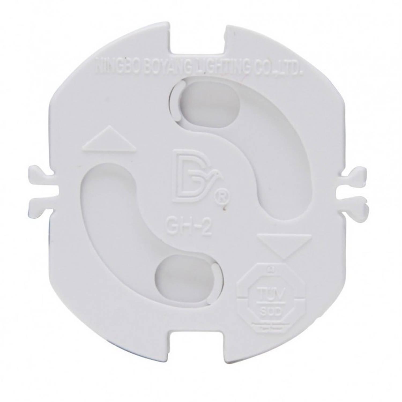 Korting 4x Stopcontact Beveiliging Klem Stopcontactbeveiligers Wit Met Randaarde